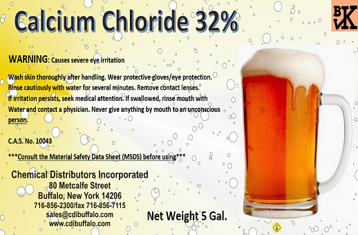 Food Grade Kosher Calcium Chloride - Liquid